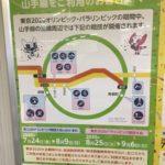 JR山手線&中央・総武線 オリンピック・パラリンピック開催時の混雑防止協力要請ポスター (2020年新春)